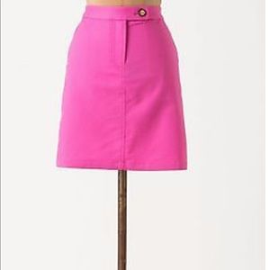 Anthropologie Vanessa Virginia Hot Pink Skirt 10